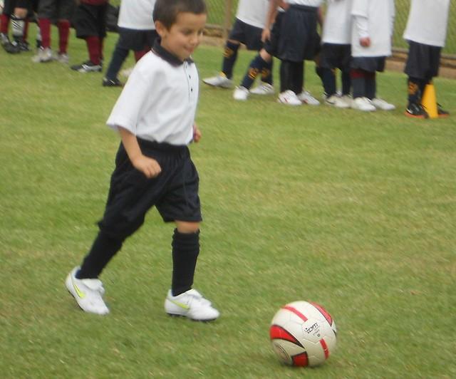game field sport kids start ball children exercise soccer beginning luc practice activity dribbling