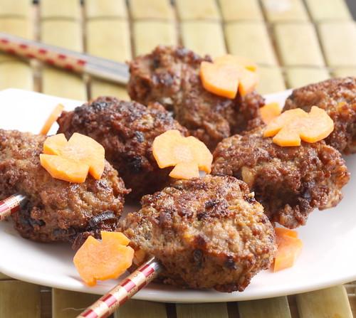 Chrysanthemum: Vietnamese Grilled Meatballs (Xiu Mai)