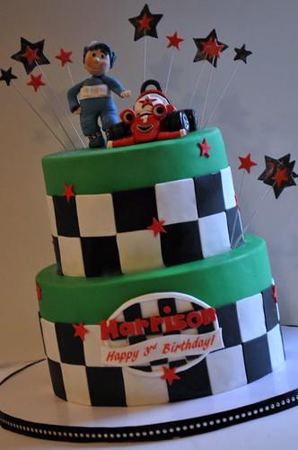 Roary Race Car Cake
