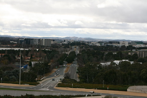 View from the top of Parliament House