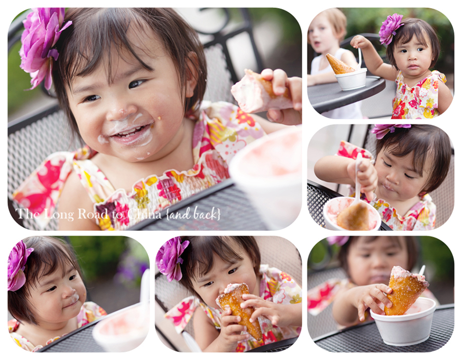 Reagan Eating Ice Cream Collage