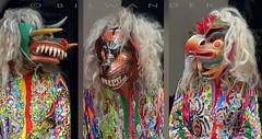 Peru, Aguas Calientes, Machu Picchu pueblo,  Choquekillka demon masked dancers #eru (bilwander) Tags: travel peru machu dancers cusco pueblo pichu demon masked machupicchu aguas ollantaytambo calientes bilwander choquekillka eru