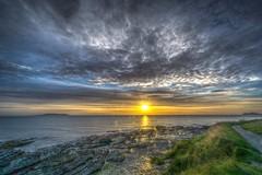 Sunrise on the Irish Sea (dmoon1) Tags: dublinbay irish sea sony a6000