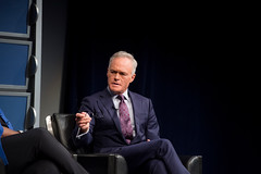 """CBS Evening News"" anchor Scott Pelley during the panel."