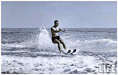 Mohamed Reza Pahlavi At Miami Beach In 1955 (F) (Tulipe Noire) Tags: usa 1955 beach king iran miami persia 1950s reza mohamed shah pahlavi