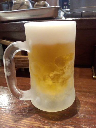 ひさびさの生ビール。うまい。