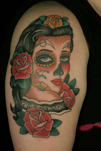 day of the dead girl pictures. I finished this girl with day
