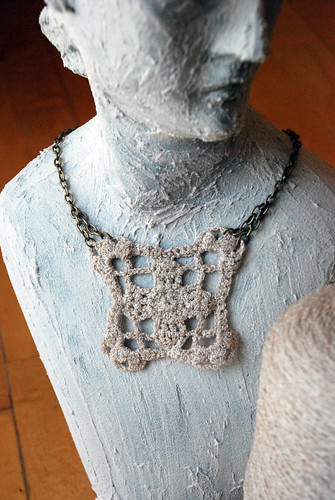 crochet necklace by kristibre