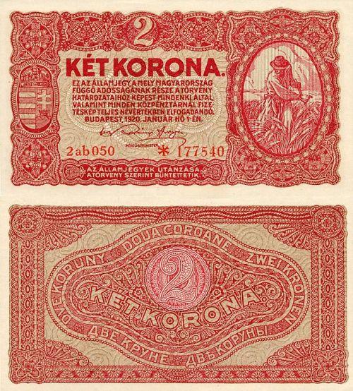 2 Korona Maďarsko 1920, P58