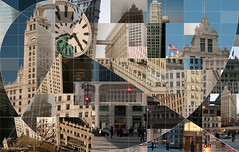 Wrigley Building Montage by jlurie