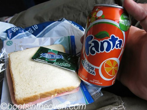 Provided lunch - ham and cheese sammich, fanta
