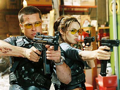 Brad Pitt and Angelina Jolie sunglasses in Mr. and Mrs. Smith