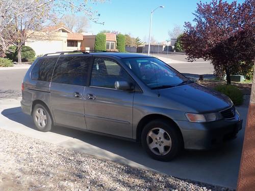 Our 2000 Honda Odyssey EX minivan.