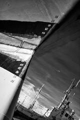 disturb the senses (Julien Ratel ( Jll Jnsson )) Tags: ocean sea bw white black water les port canon sens boat iceland eau noir harbour nb reykjavik tokina numbers bateau blanc waterline numeros islande icelandic diagonale 1224f4 eos40d blueju38 julienratel lveldisland lignedeflottaison julienratelphotography perturber blueju islenski bluejumisterclic disturbthesenses