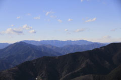 陣馬山の山頂からの眺望