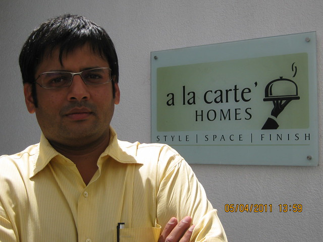 Mr. Kapil Gandhi of Kundan Spaces, one of the partners in Sigma One Kundan Ventures, promoters of Grand Stand on the other side of Mumbai Bangalore Bypass, next to 'Wonder Funkey' at Kothrud Pune 411 038