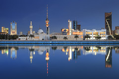 Kuwait City reflection ( Saleh AlRashaid / www.Salehphotography.net) Tags: blue canon landscape photo cityscape gulf photos outdoor mark middleeast arab ii hour 5d canon5d kuwait gcc jibla kuwaitcity kuwaiti  q8  saleh  kuwaity  alkuwait          kuwaitdesert kowait citynightshot stateofkuwait   leefilters   kuwaitphoto kuwaitphotos kuwaitpic q8photo  canonef1635mmf28lii canoneos5dmarkii  q8pic    alrashaid salehalrashaid salehphotographynet  kuwaitsanddunes