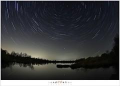 Looking North (1D083473) (nandOOnline) Tags: sky reflection nature landscape star timelapse heaven north nederland natuur swamp nightsky peel lucht startrails limburg landschap noord ster iridium reflectie moeras grootepeel meerbaansblaak iridiumflash ospel sterrensporen