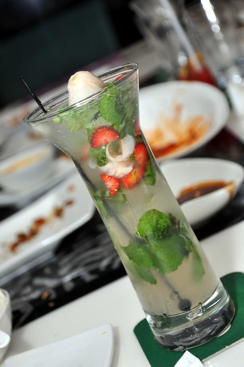 Lychee & Strawberry Mojito