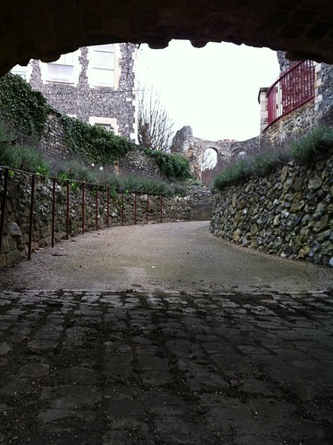 Path to the 12th-century Reading Abbey, Reading, UK
