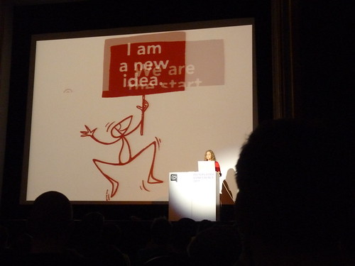Rilla Alexander with her Sozi on the Pictoplasma 2011