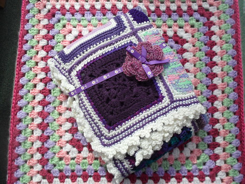 I'm very grateful to The Garden Bell, she has assembled a Blanket for me, it's called 'Purple Rain!' Thank you so much!