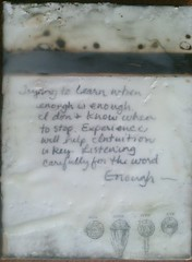 Enough - Encaustic & plaster