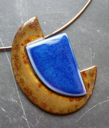 Handbuilt Porcelain Pendant
