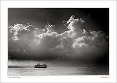 """small"" ship, big cloud (reworked) (alexring) Tags: cruise cloud big ship small greece corfu"