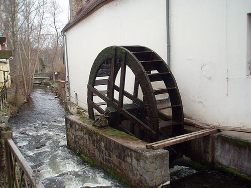 Wheel of a watermill in Buckow