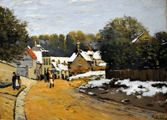 Alfred Sisley - Early Snow at Louveciennes at Boston Museum of Fine Arts (mbell1975) Tags: usa snow boston museum painting landscape ma early us mfa museu massachusetts fine arts musée musee m impressionism alfred museo mass impression sisley impressionist muzeum müze louveciennes museumuseum
