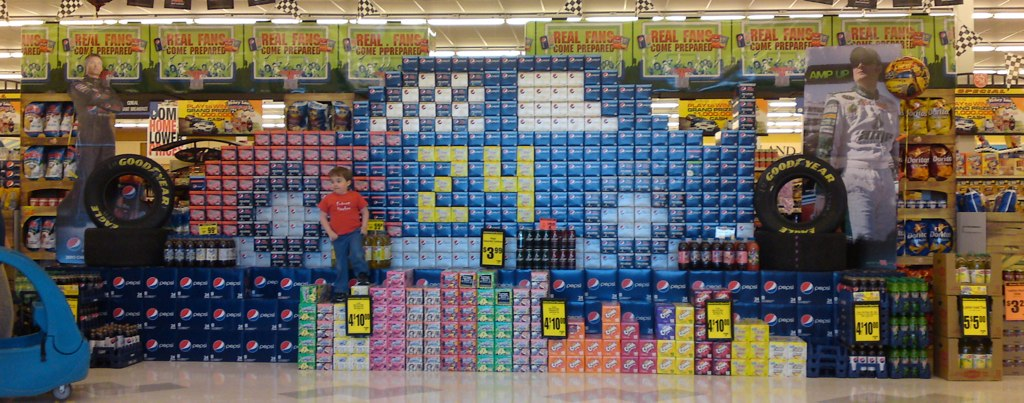 Bench Monday - the amazing soda display