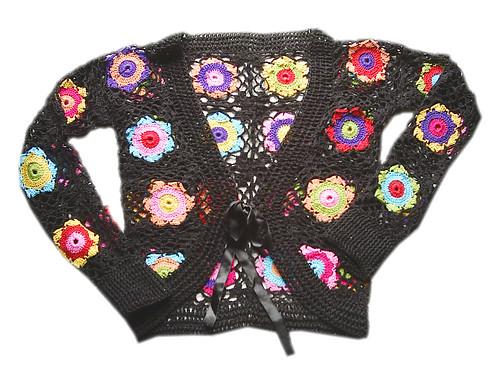 bolero colorido fita by Scheila Veiga Crochet