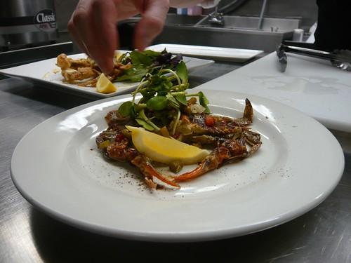 Soft shell crab at Cellar on Greene.