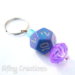 Girl Gamer - Dice Keychain