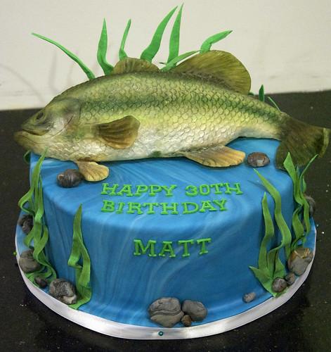 Easy Fishing Birthday Cake Ideas 17825 BC4118 Bass Fish Bi