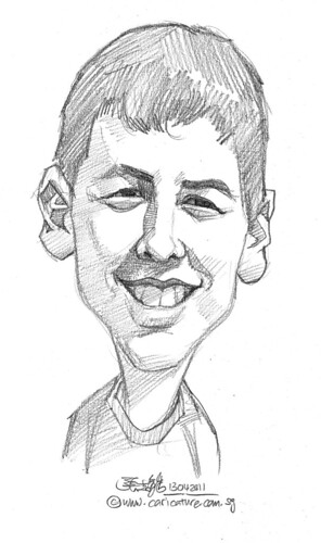 caricature in pencil - 57