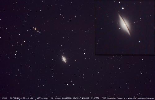 M104, Galaxia Sombrero