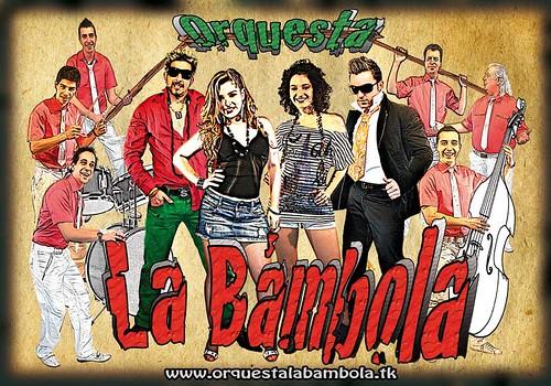 La Bámbola 2010 - orquesta - cartel