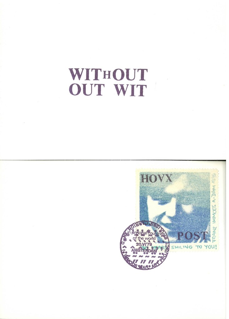 IMMOOS, Franz. Amsterdam (Self-published) 1979. 6 original rubber stamped postcards in envelope.