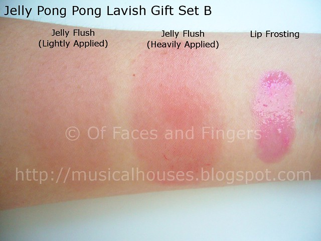 jelly pong pong lip frosting jelly flush swatches