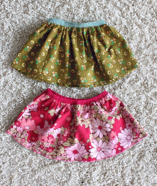 Skirts from Vintage Linens