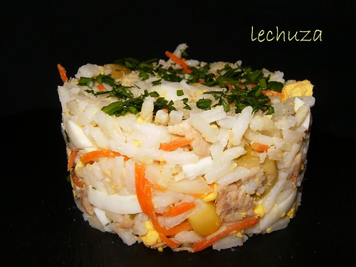 Ensalada de arroz-porción