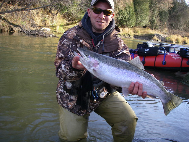 Mike with 1 of over 10 steelhead landed