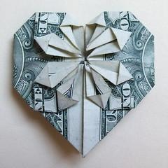 Decorative Money Origami Heart