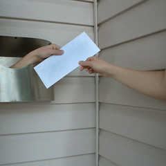 Got Mail (KAiLAMOOREPHOTOGRAPHY) Tags: house selfportrait mailbox photoshop hands mail elements envelope letter got 365 grab hold manipualtion 365days 365project