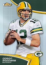 2011 Topps Finest Football Aaron Rodgers Base Card