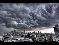 Angry Skies over Bangkok | Flood Warning! (I Prahin | www.southeastasia-images.com) Tags: storm black rain weather buildings dark thailand flooding southeastasia flood wind ominous foreboding bangkok flash dramatic monsoon tropical electricity metropolis tall lightning fusion tempest storms thick hdr themet ferocity sathorn canon1022mm businessdistrict sathornroad narathiwasroad totallythailand bestcapturesaoi elitegalleryaoi gettyimagessoutheastasiaq2