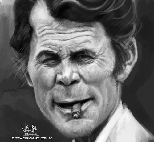 digital caricature of Jack Palance - 3