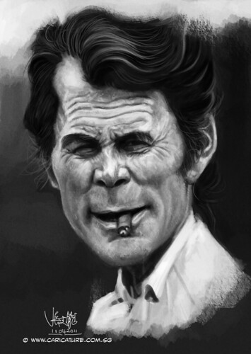 digital caricature of Jack Palance